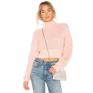 Revolve Lovers + Friends Union Pink Sweater